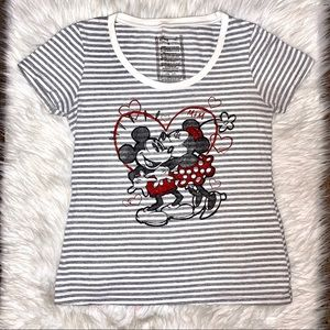 Minnie Mouse stripped shirt Disney store medium